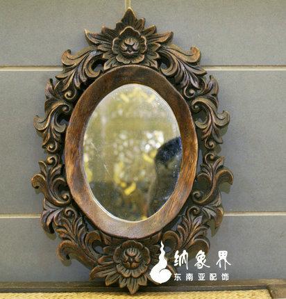 椭圆形带镜子镜框
